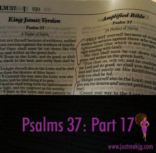 Psalm 37: Part 17 - Fear Not